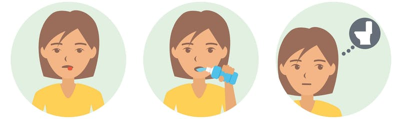 Symptoms of ketosis: dry mouth, thirst, frequent urination