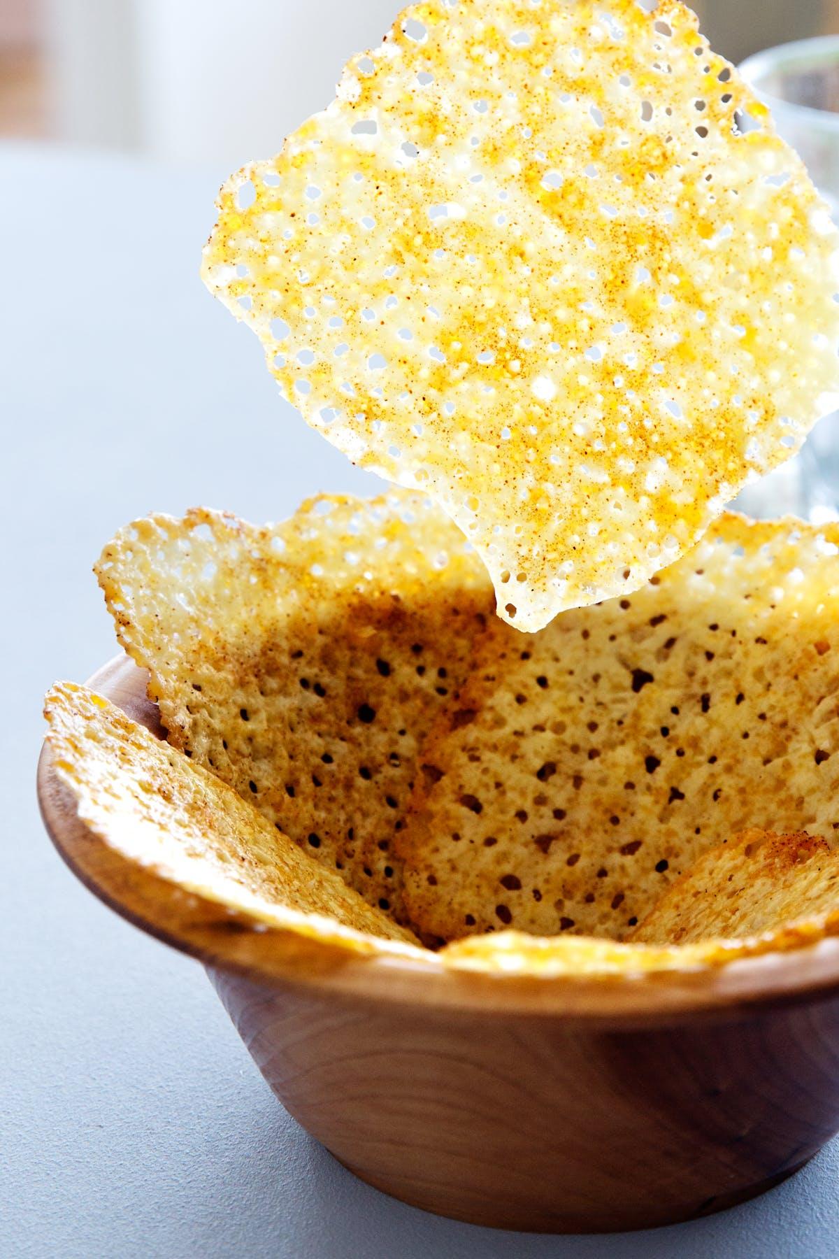"""Papitas"" de queso cetogénicas"