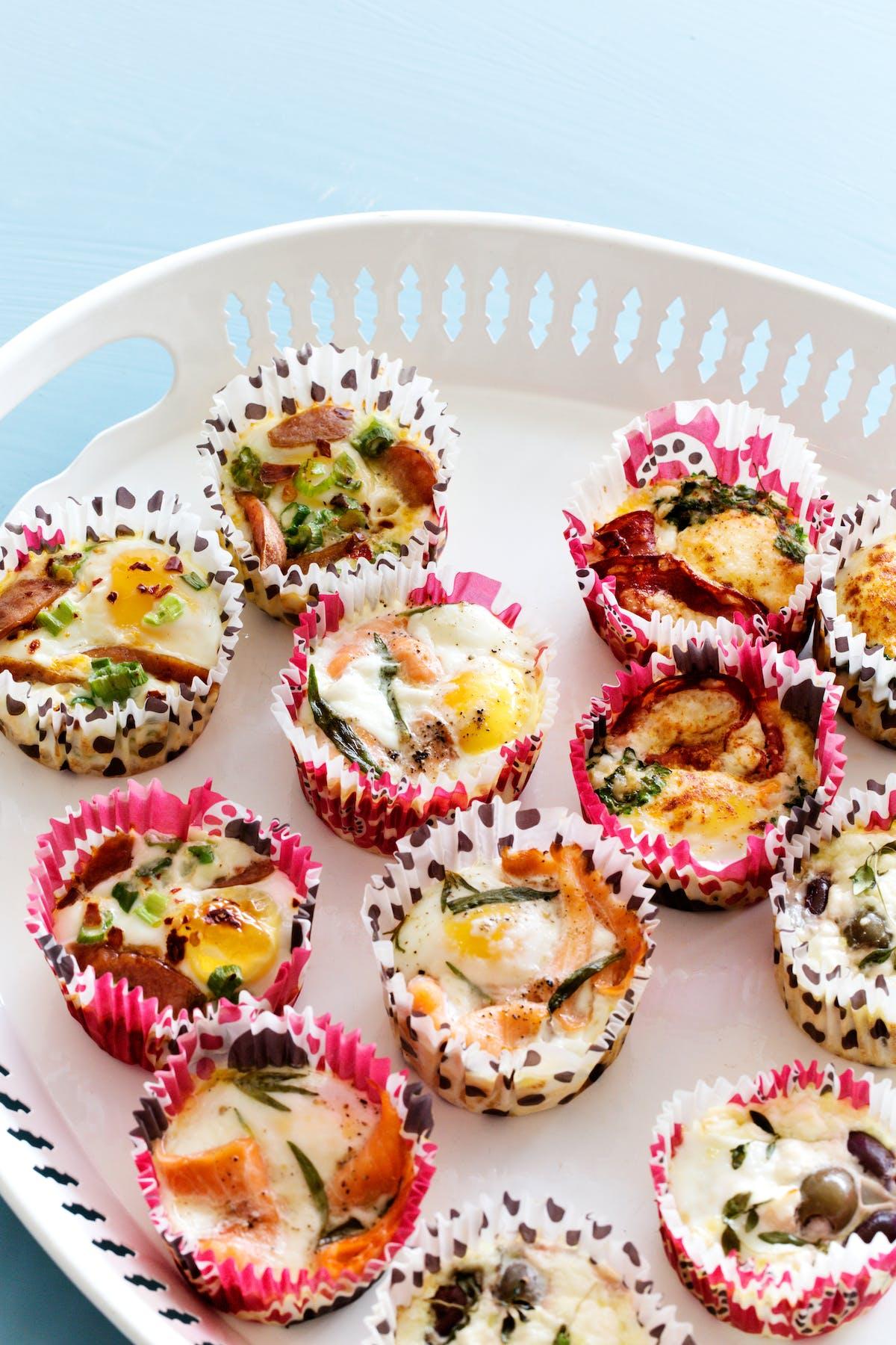 Huevos cupcakes keto para llevar