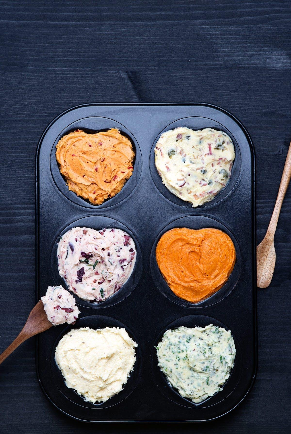Mantequilla saborizada de 6 maneras diferentes
