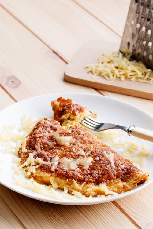 Omelette de queso keto