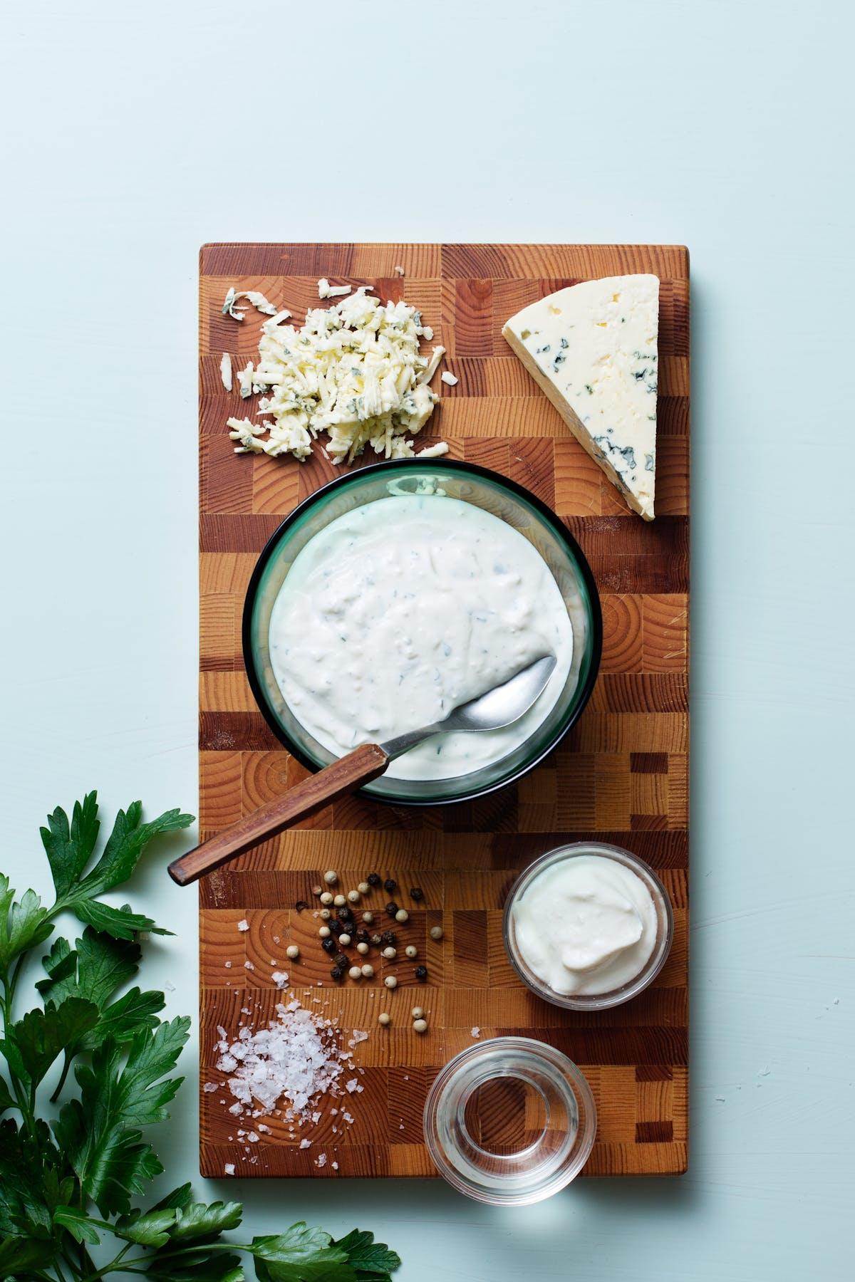 Aderezo cremoso keto de queso azul