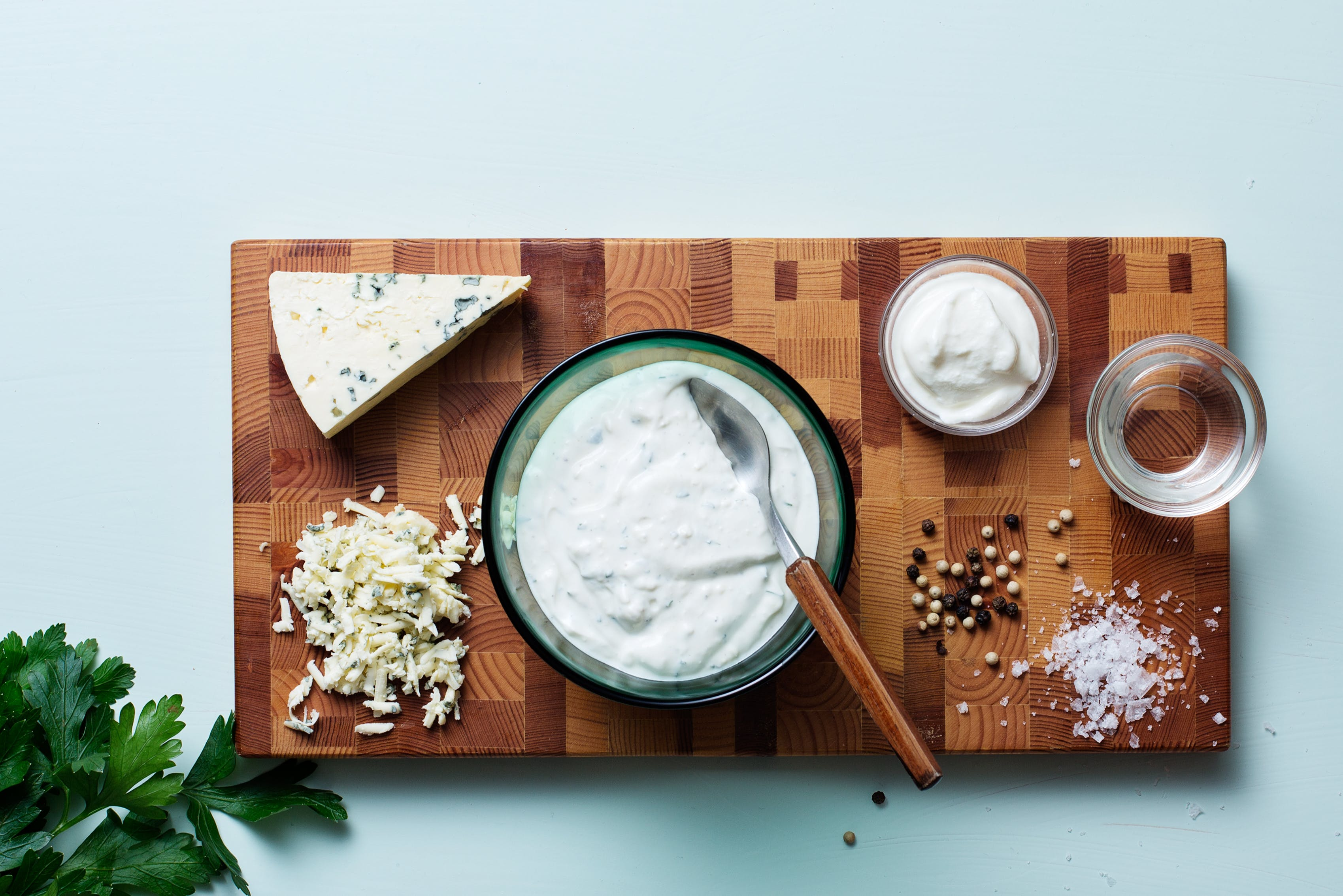 Aderezo keto de queso azul