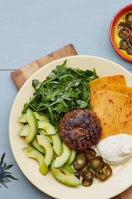 Plato keto: la maravillosa hamburguesa Tex-Mex