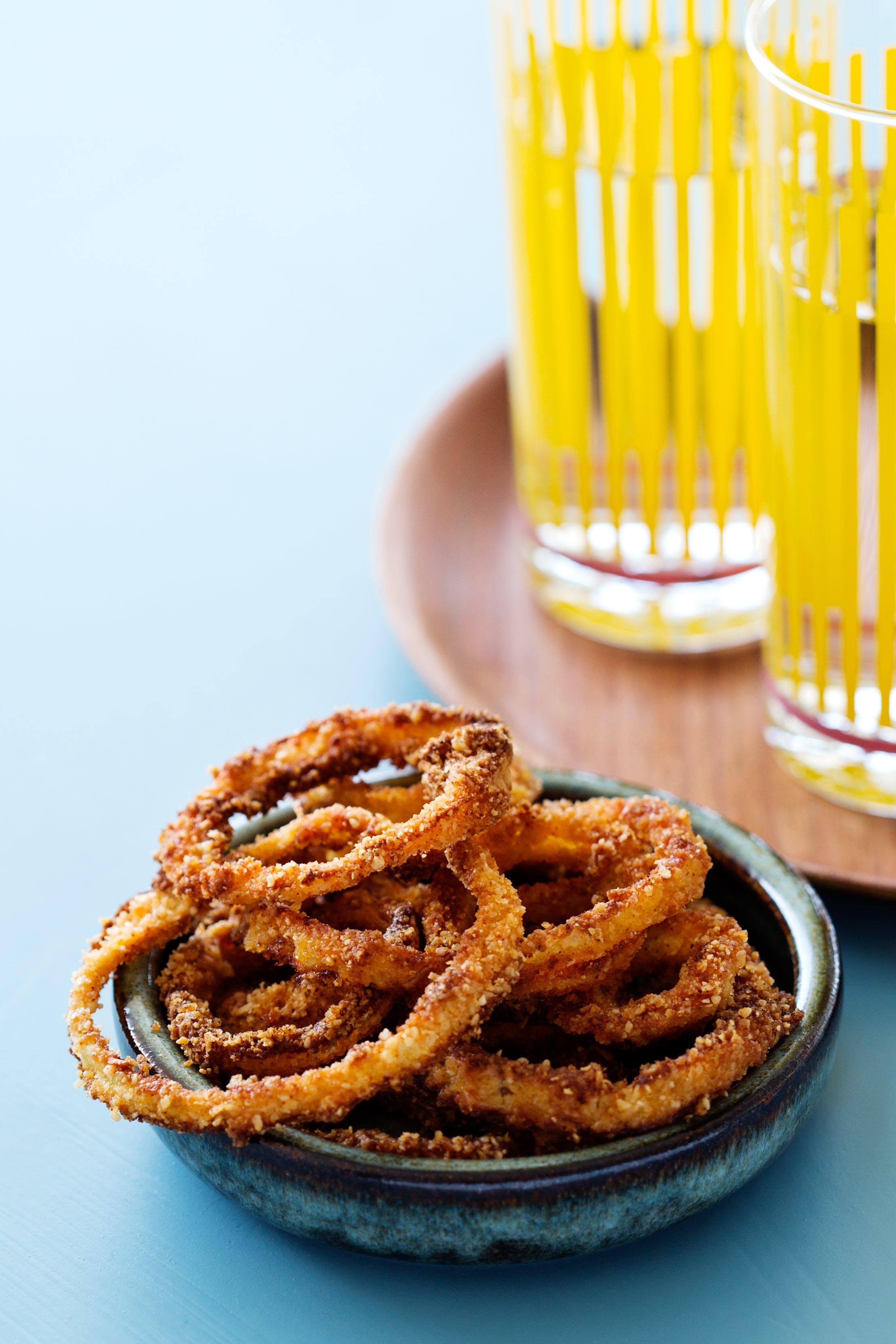 Aros de cebolla bajos en carbohidratos
