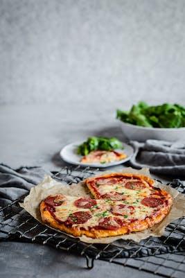 Pizza cetogénica<br />(Cena)