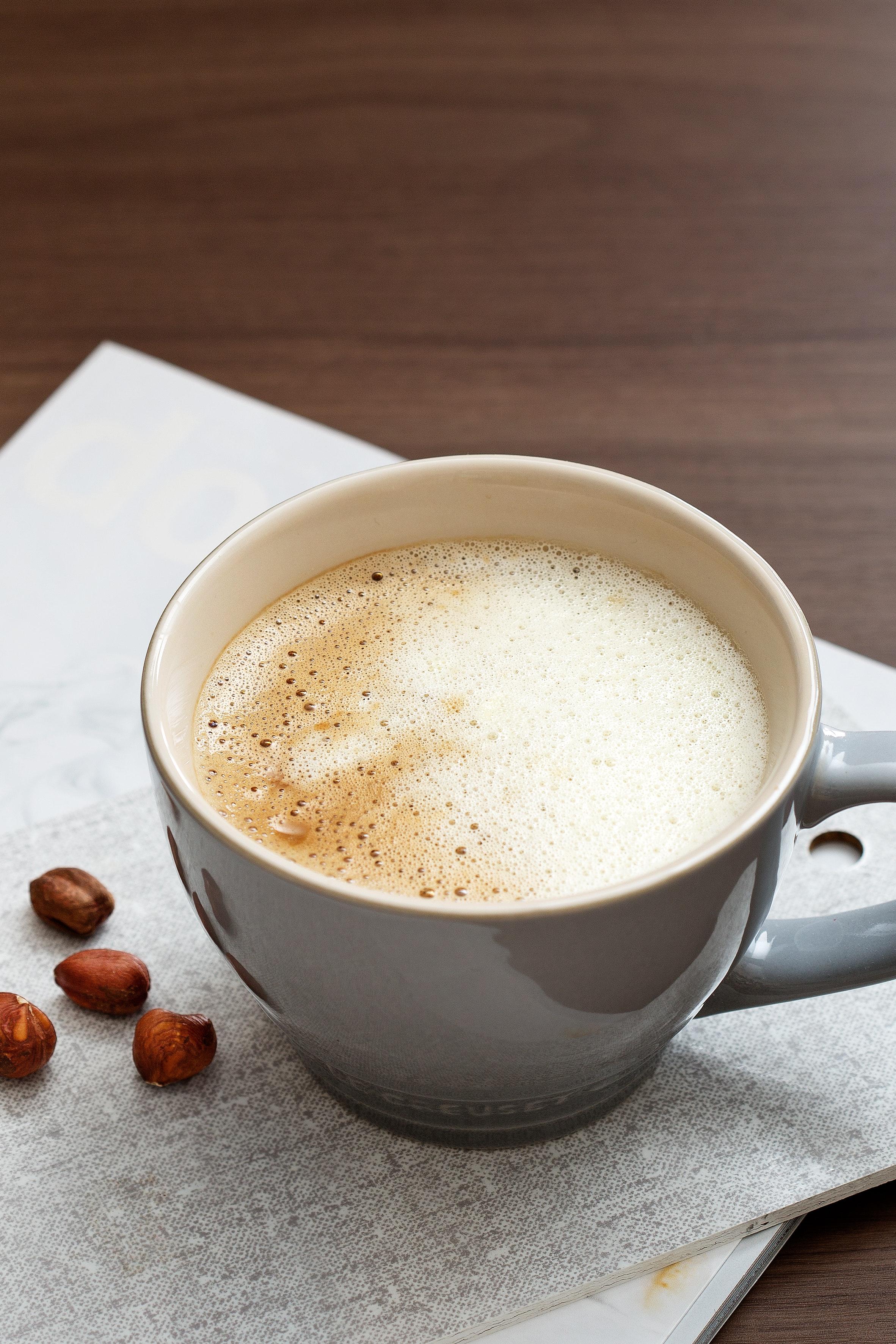 Calorias de una taza de cafe con leche sin azucar