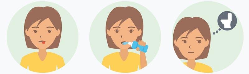 Síntomas de la cetosis: boca seca, sed, micción frecuente