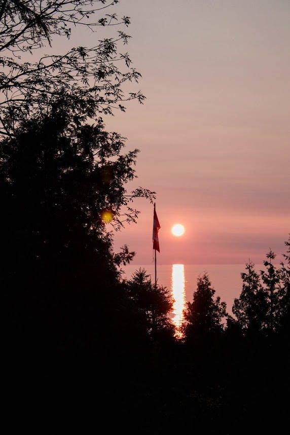 Cottage-sunset