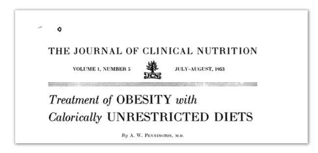 Dieta baja en carbohidratos y alta en grasas de 1953