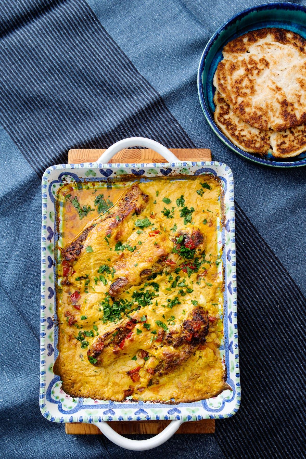 Garam masala de pollo al horno