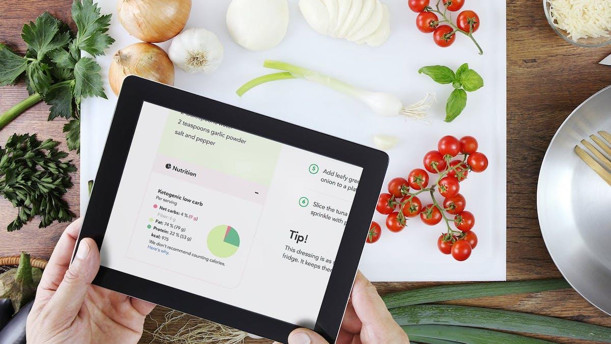 Nueva función en las recetas: información nutricional completa, incluyendo los gramos de macronutrientes y calorías