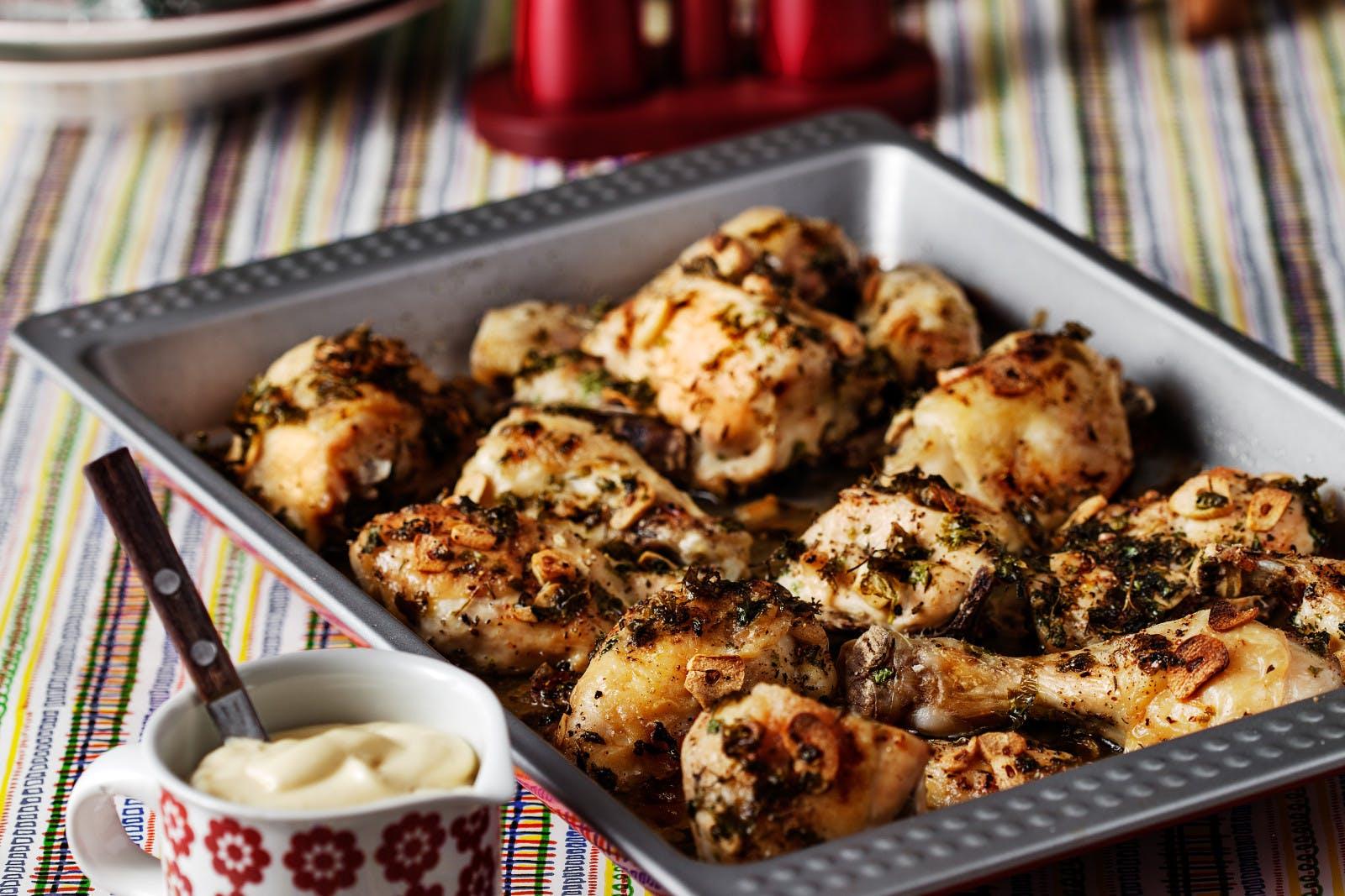 Pollo al ajillo bajo en carbohidratos