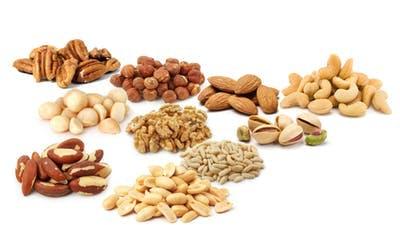 Frutos secos bajos en carbohidratos