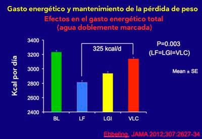 Efectos gasto energético total