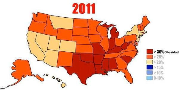 Tasas de obesidad en EE. UU.