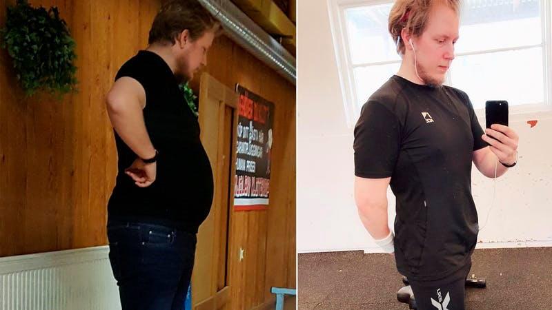 42 kg más ligero tras un año de bajos en carbohidratos