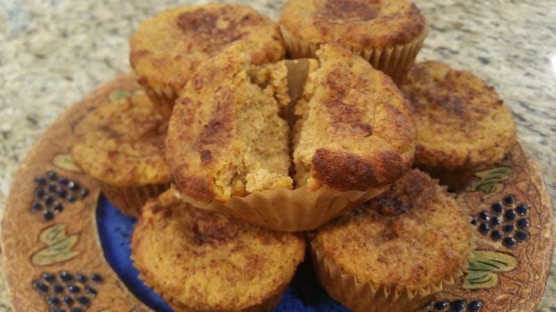 Muffins de calabaza con especias