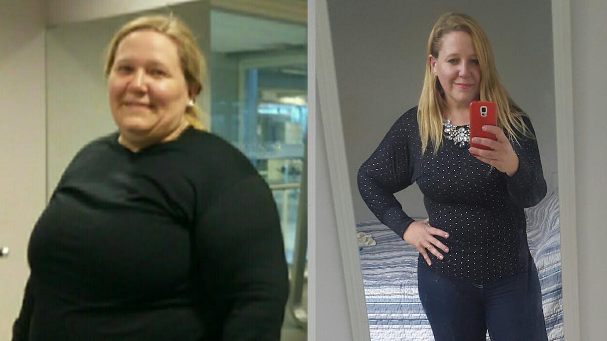 Pérdida de 41 kg en 7,5 meses y ¡no más medicamentos!
