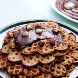 Waffles de plátano bajos en carbohidratos