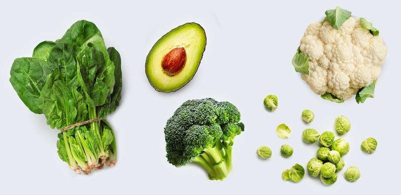 Verduras keto