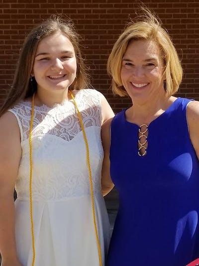 Kristie con su hija