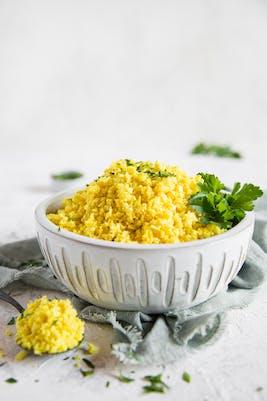 Arroz de coliflor bajo en carbohidratos