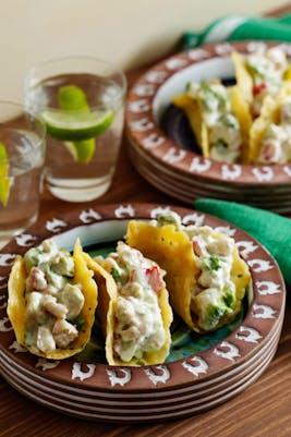 Tacos keto cremosos con camarones (gambas)
