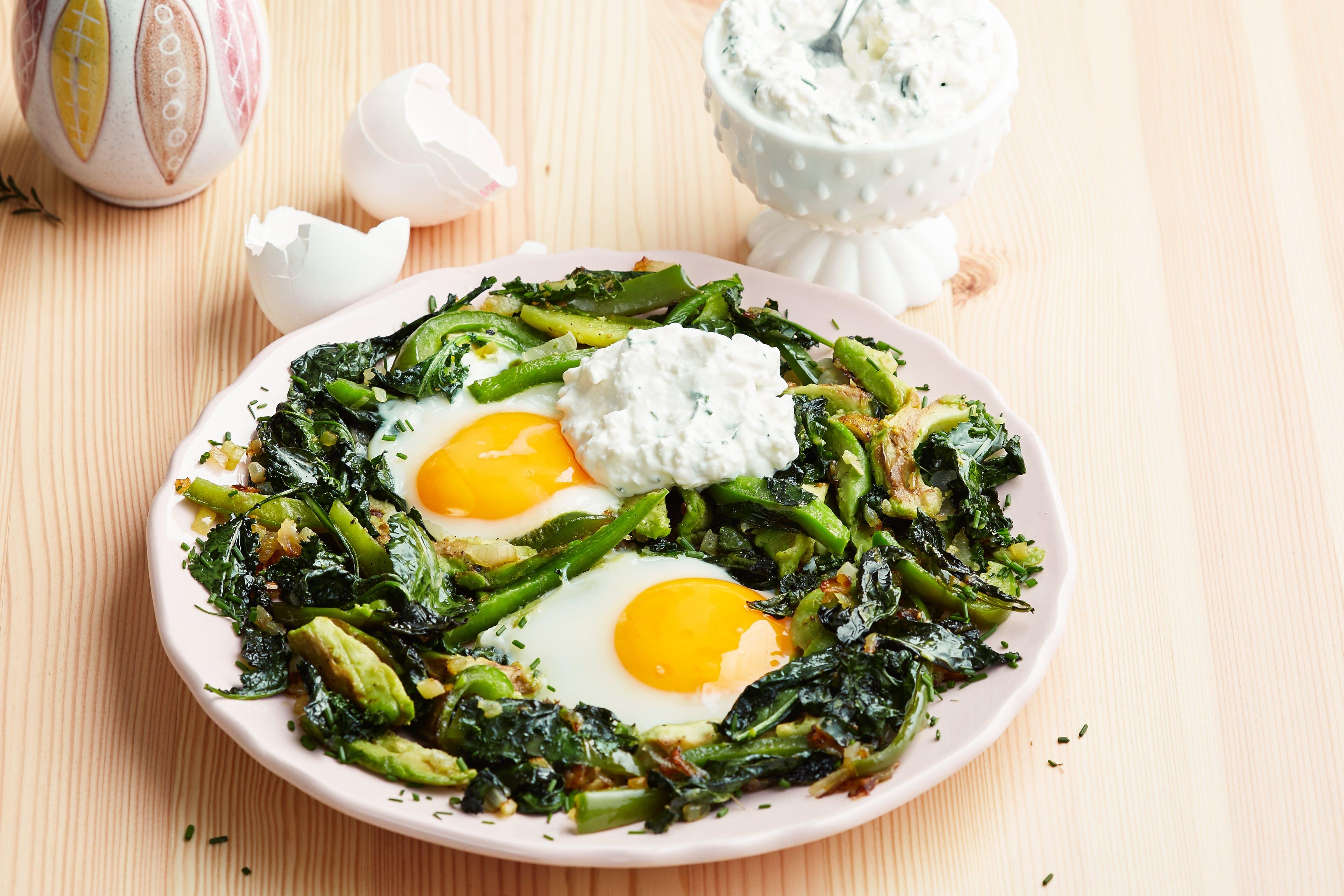 Sartén de huevos y verduras