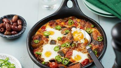 Ratatouille con huevos al horno