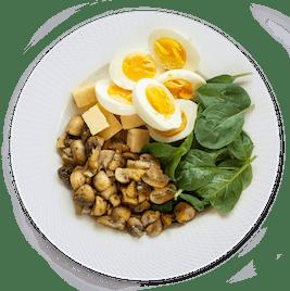 130 gramos proteína - desayuno
