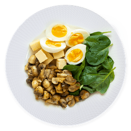 70 gramos proteína - desayuno