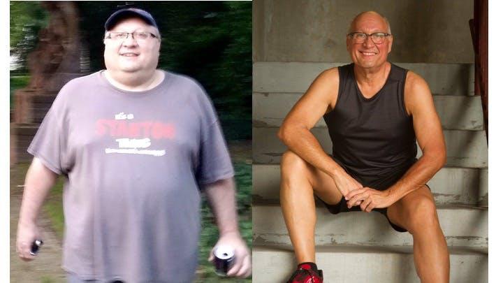 Con un pie en la tumba, Robert cambió las cosas y perdió 90 kg