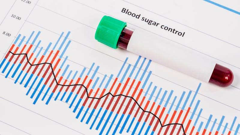 Muestra de sangre para prueba diabetes