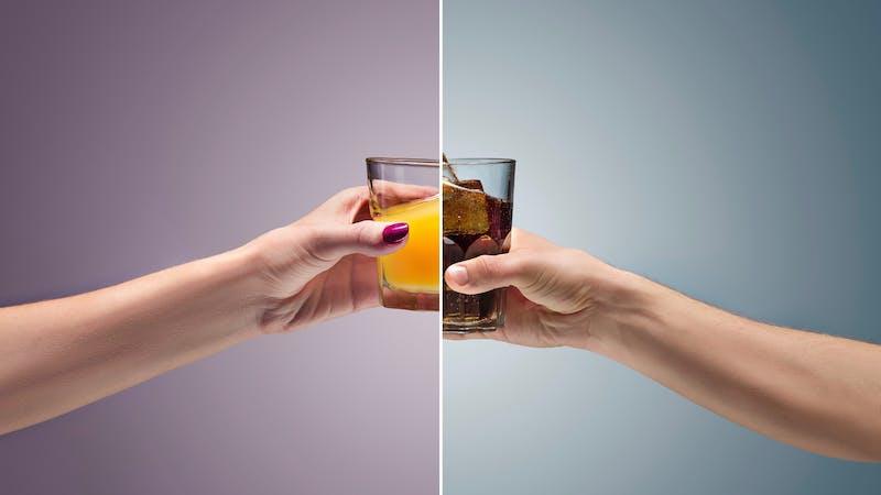 Soda versus juice