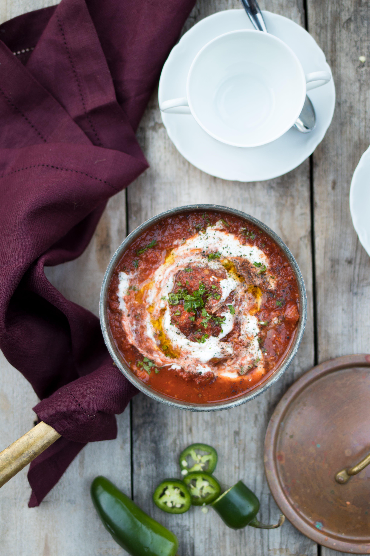 Sopa picante de sobras de pavo