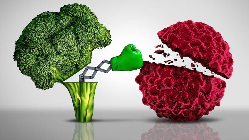 Brócoli luchando con cáncer