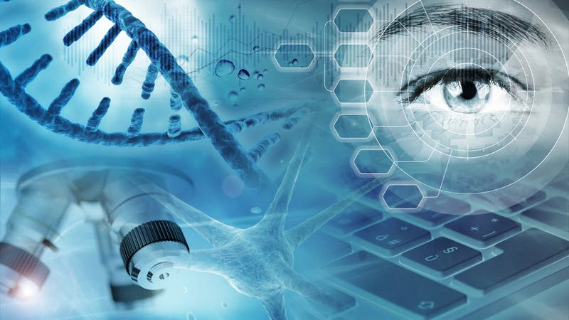 genetic research abstract background