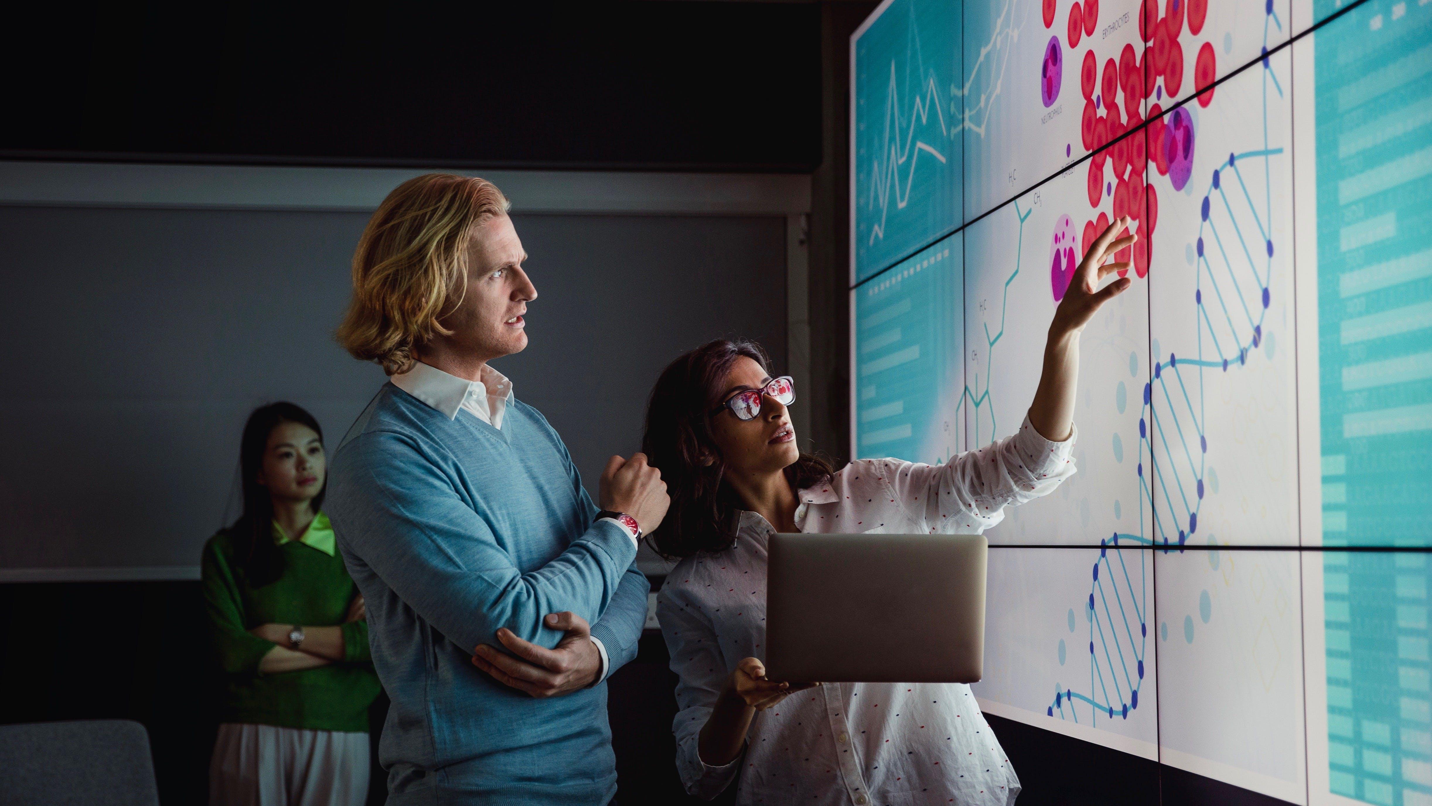 Analizando datos en una pantalla grande