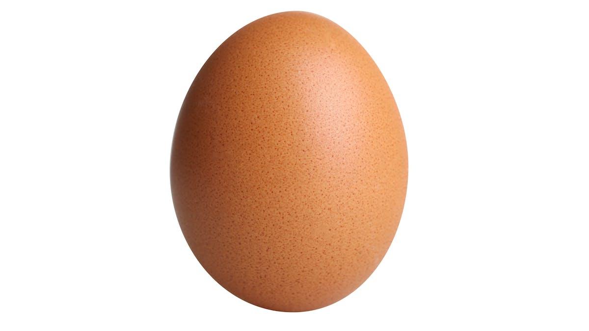 Un huevo es el número uno en Instragram
