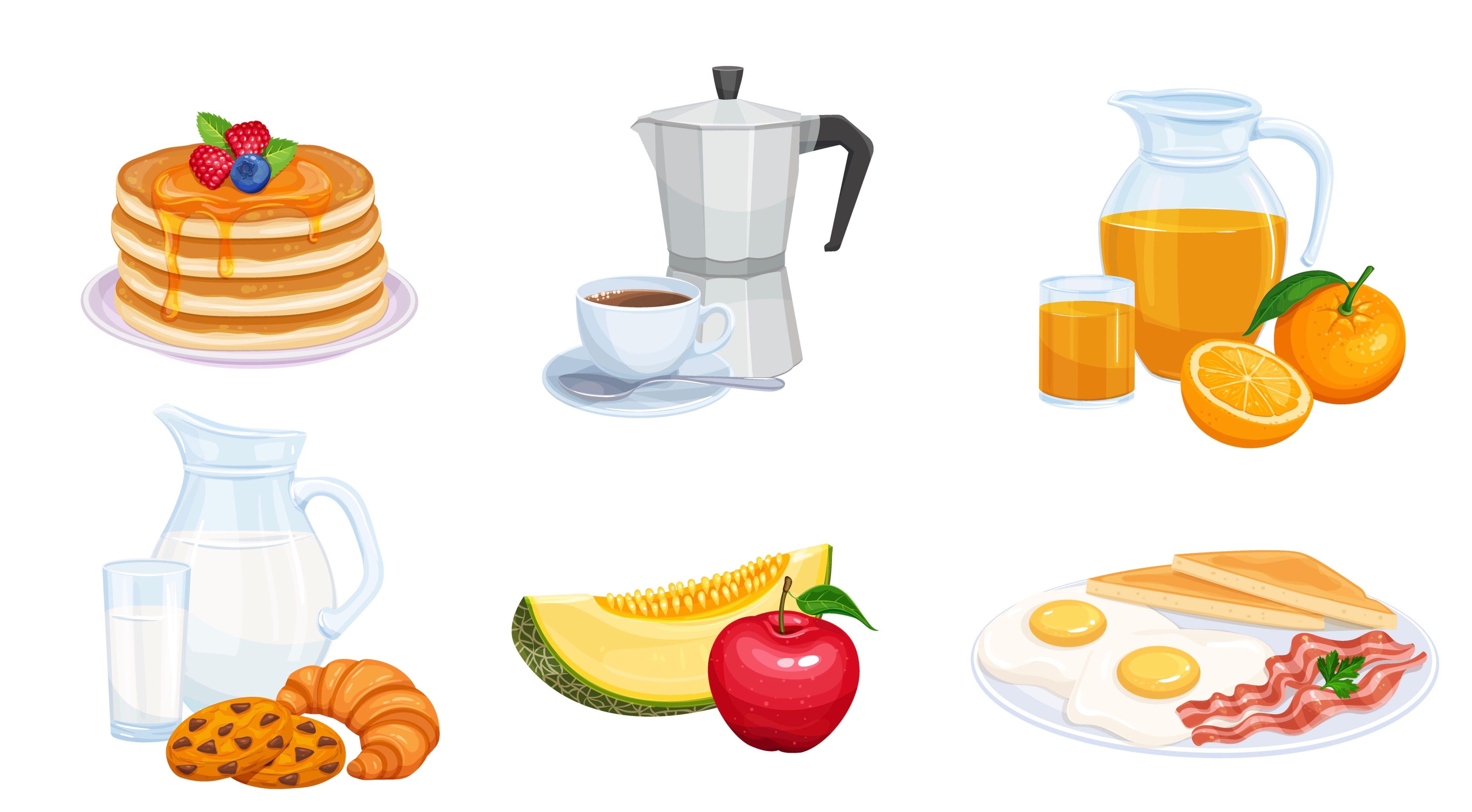 Iconos desayuno