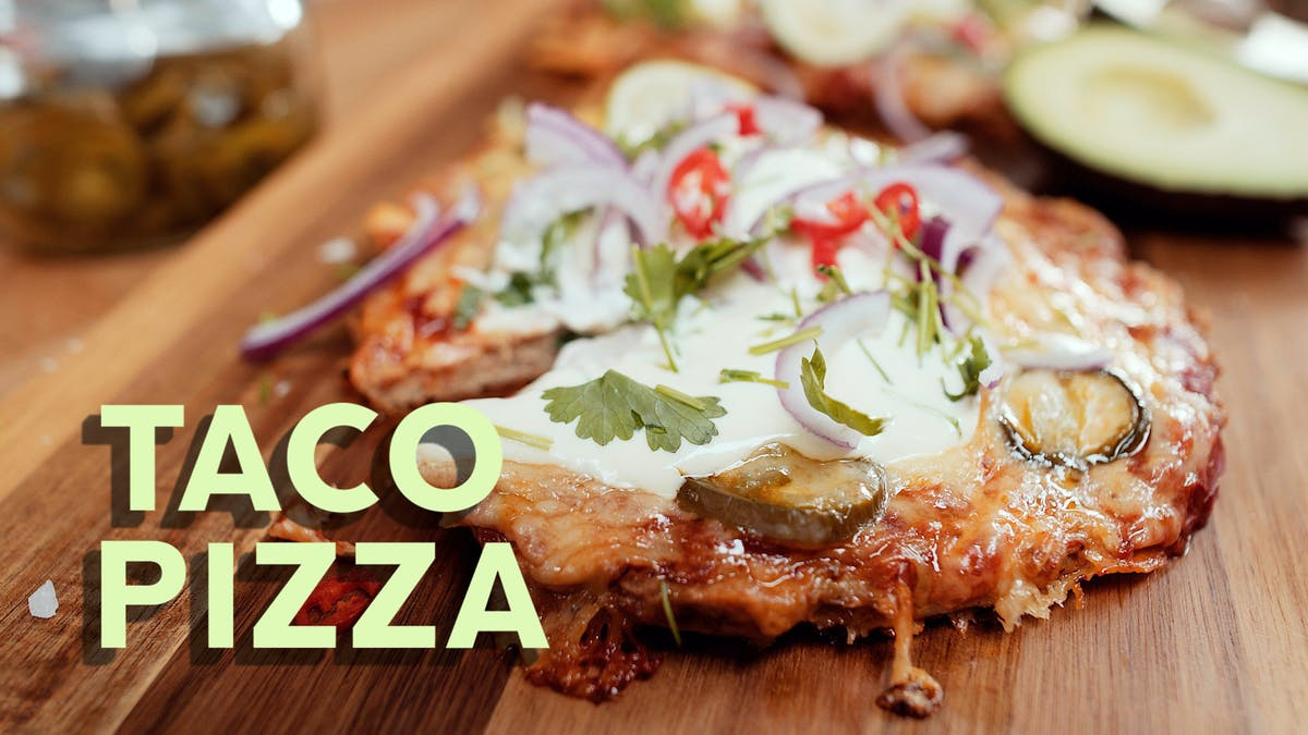 Taco Pizza, receta en video