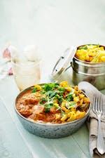 Pollo a la mantequilla con especias de la India