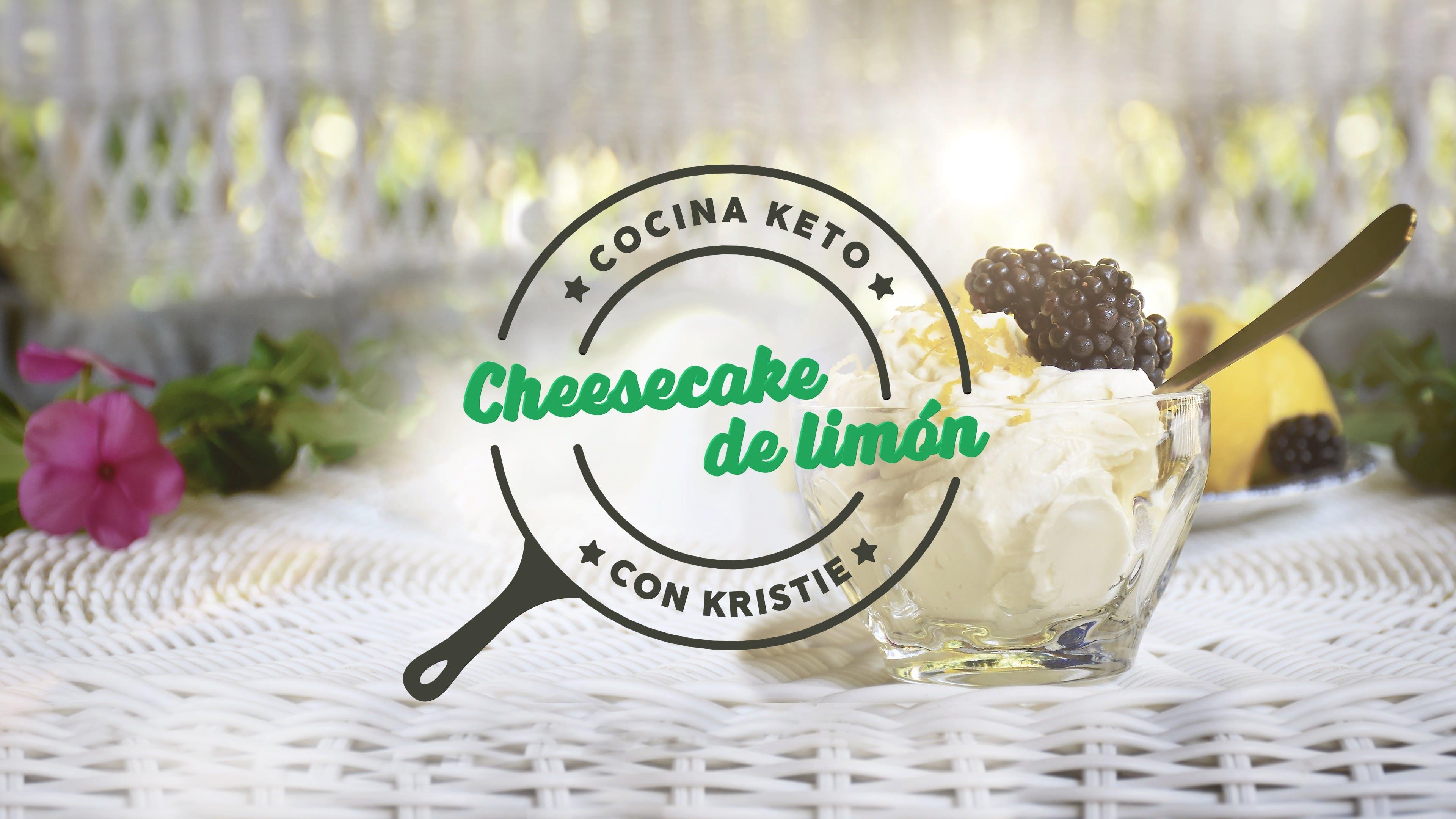 Cocina keto con Kristie - Cheesecake de limón