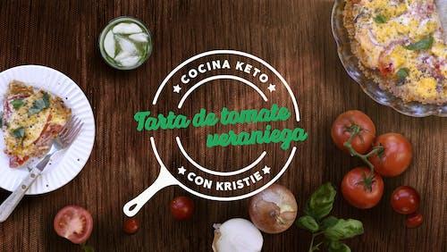 Cocina keto con Kristie - Tarta de tomate veraniega