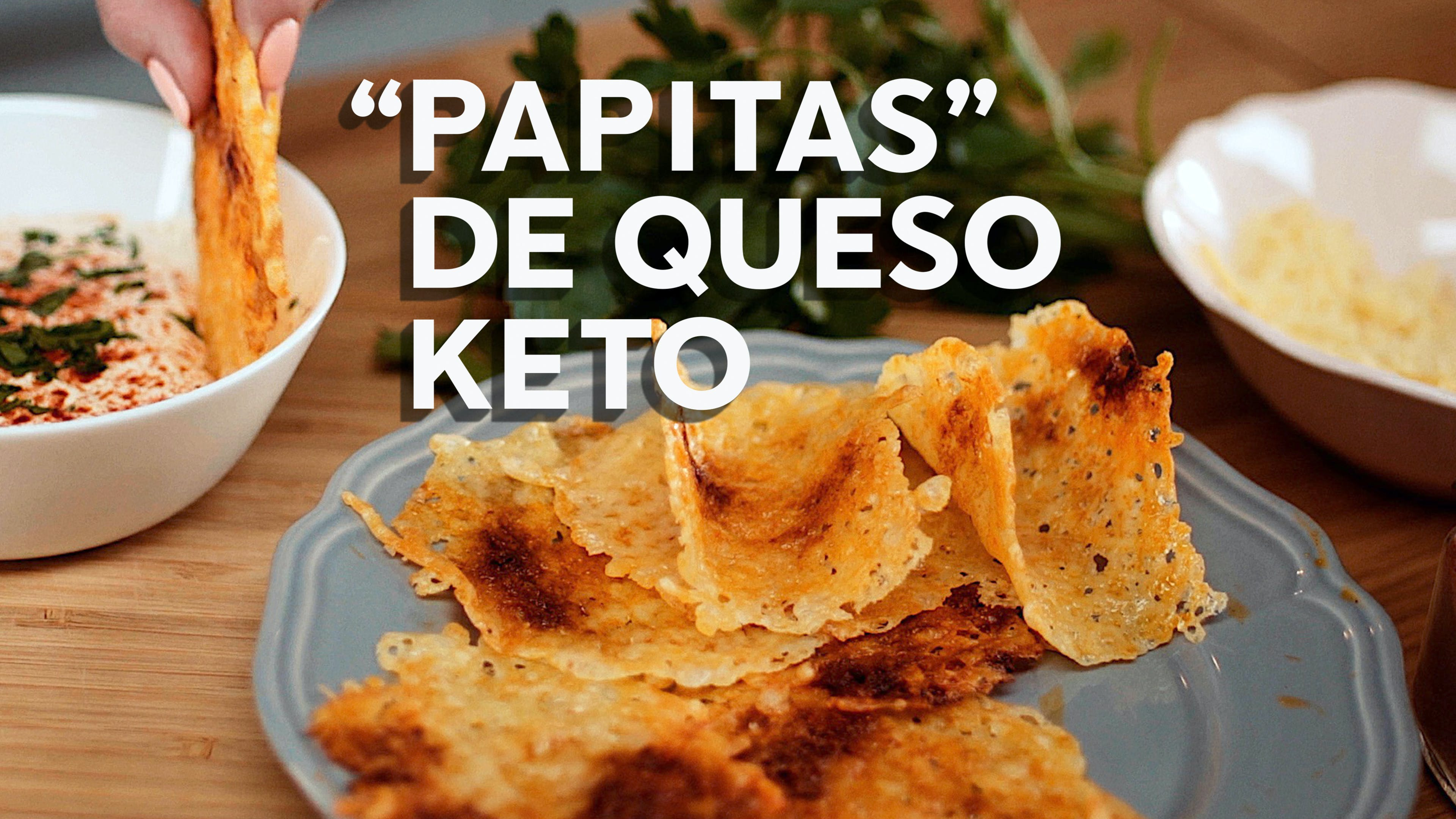 """Papitas"" de queso keto, receta en video"