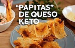"""""""Papitas"""" de queso keto, receta en video"""
