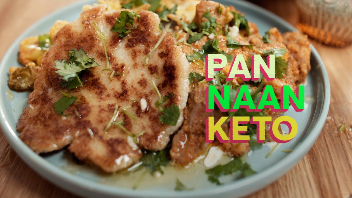 Pan naan keto, receta en video