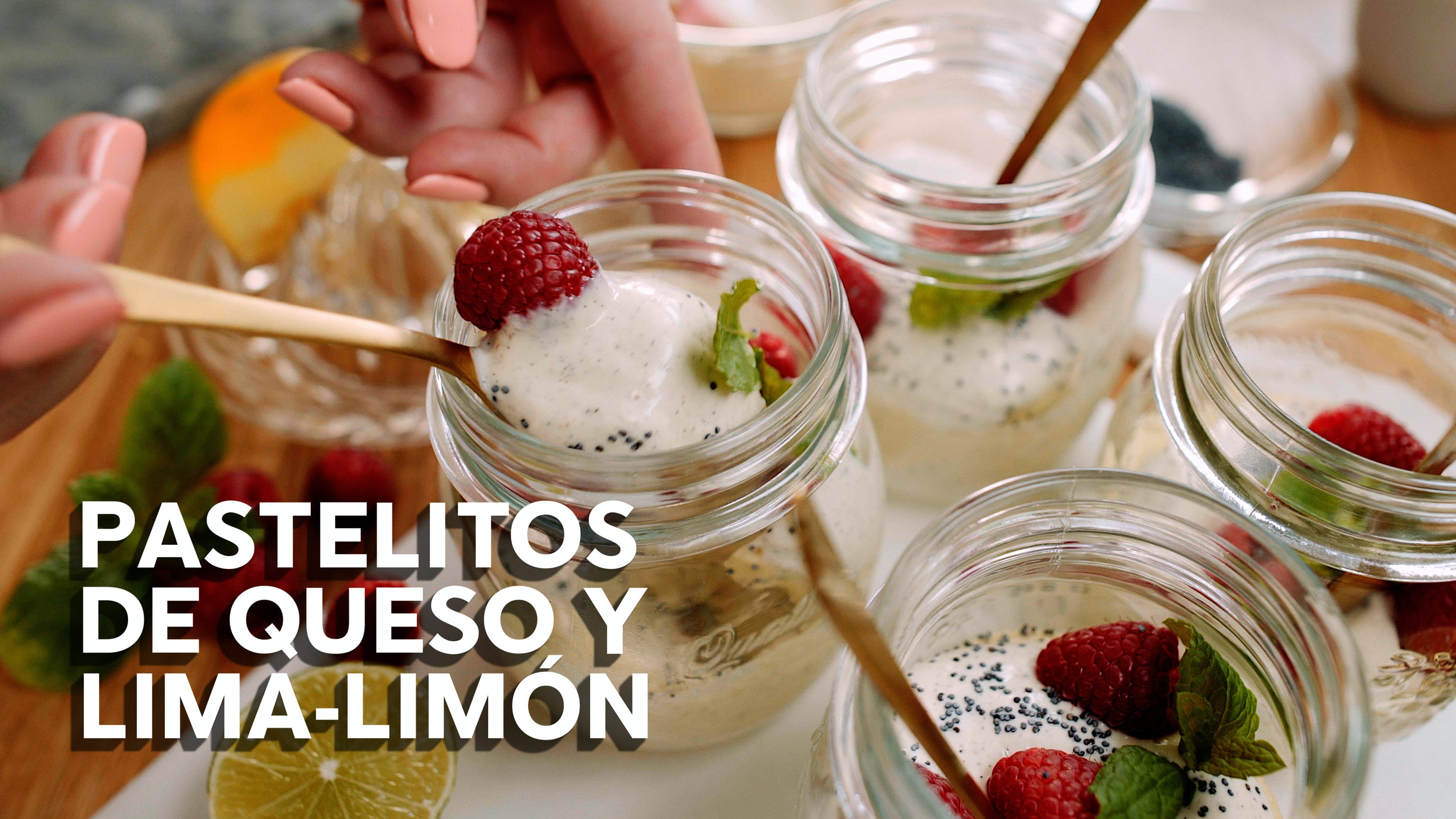Pastelitos de queso y lima-limón, receta en video