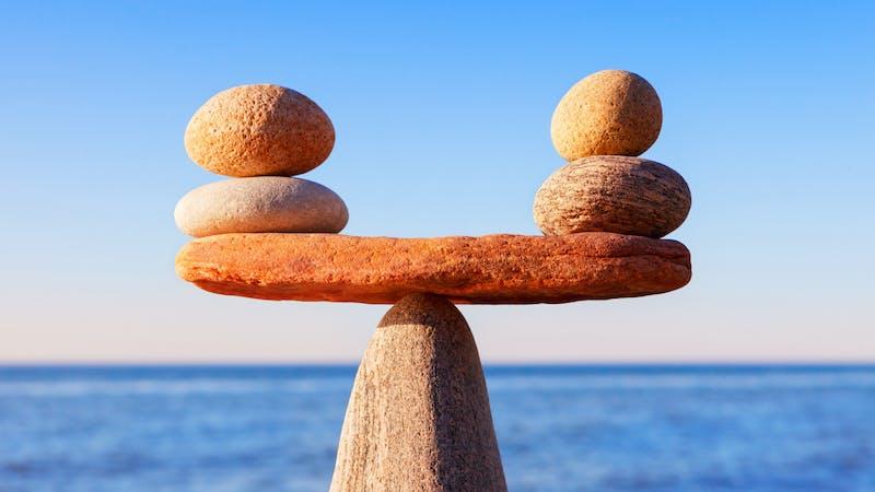Piedras en equilibrio